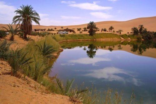 دریاچه ای وسط بیابان