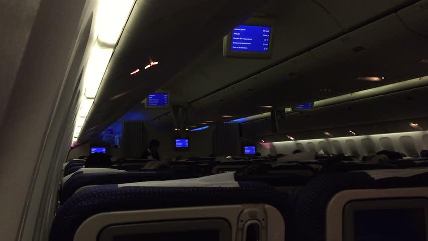 چراغهای داخل هواپیما