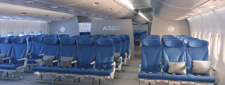 چرا صندلی های هواپیما آبی است