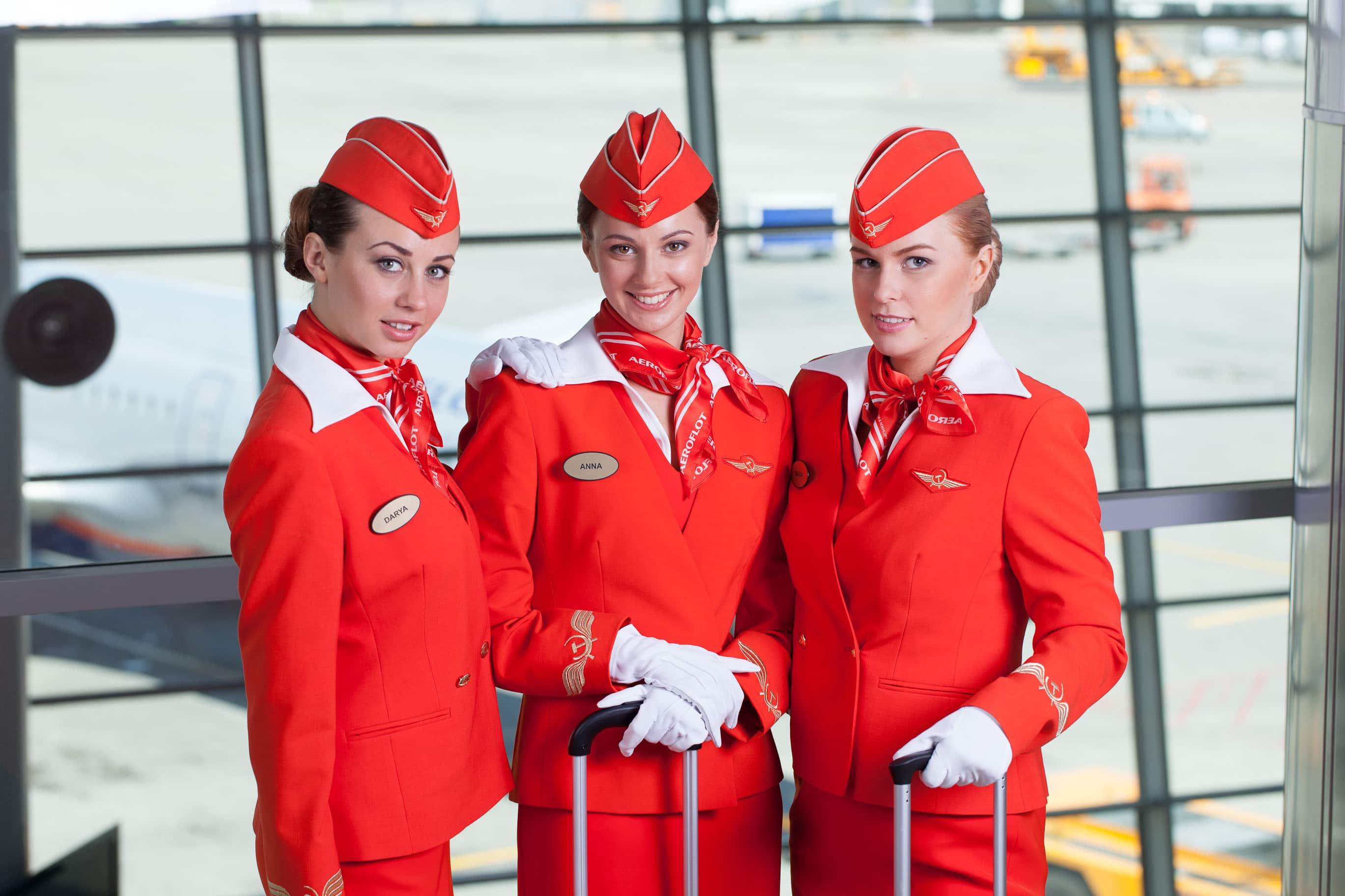 لباس مهمانداران خارجی هواپیما