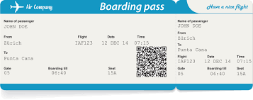 کد های روی کارت پرواز به چه معناست