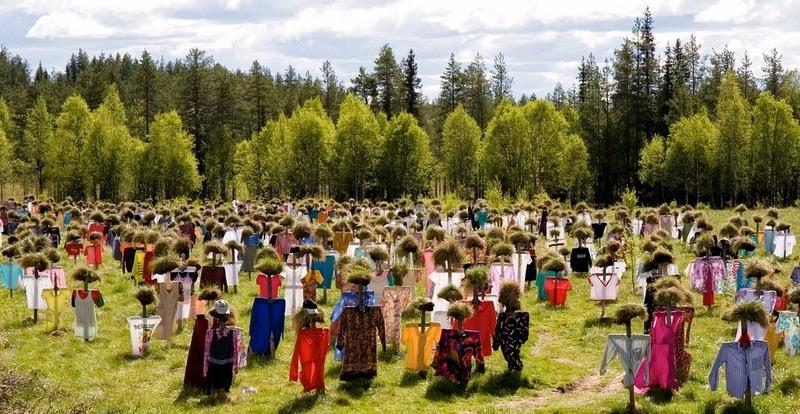 مزرعه مترسک ها در فنلاند