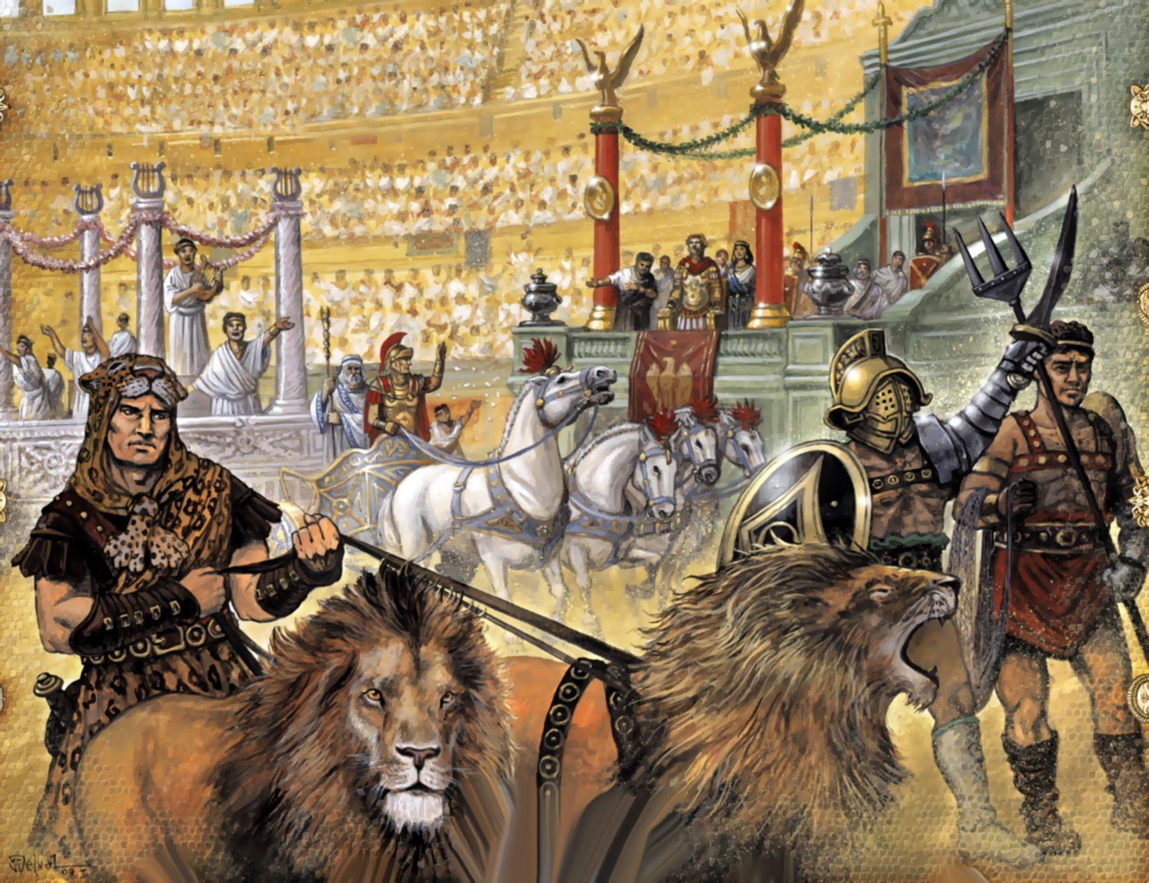 گلادیاتور ها در کجا میجنگیدند