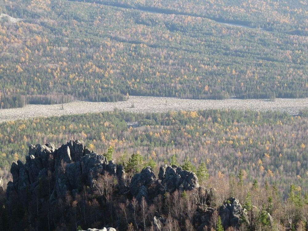 رودخانه ای از سنگ در روسیه