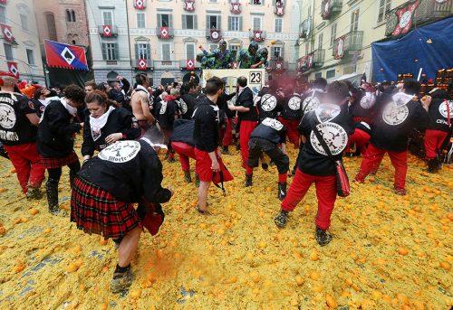 فستیوال نبرد پرتقال ایتالیا