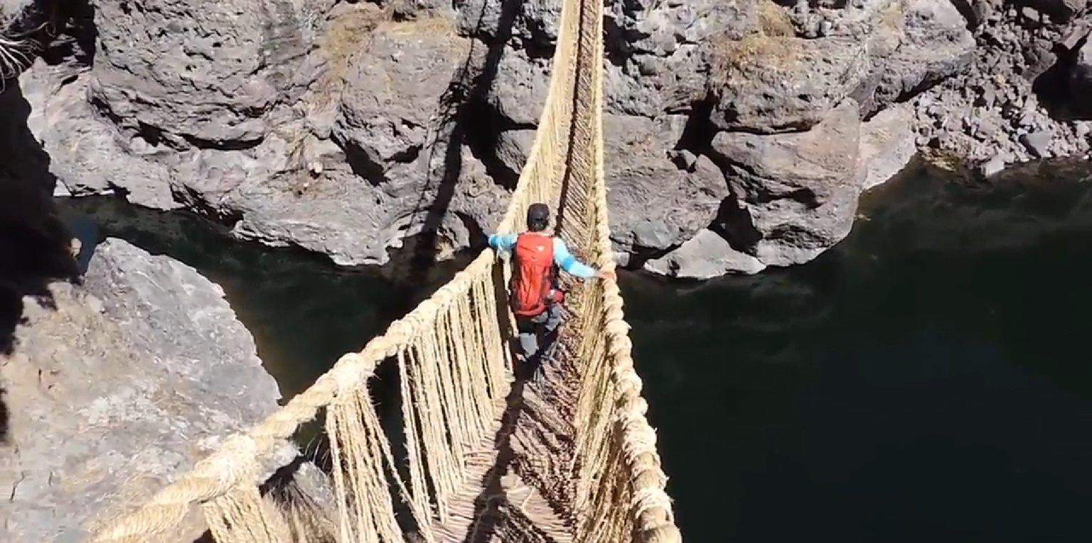 پل طنابی که هزاران سال سالم مانده