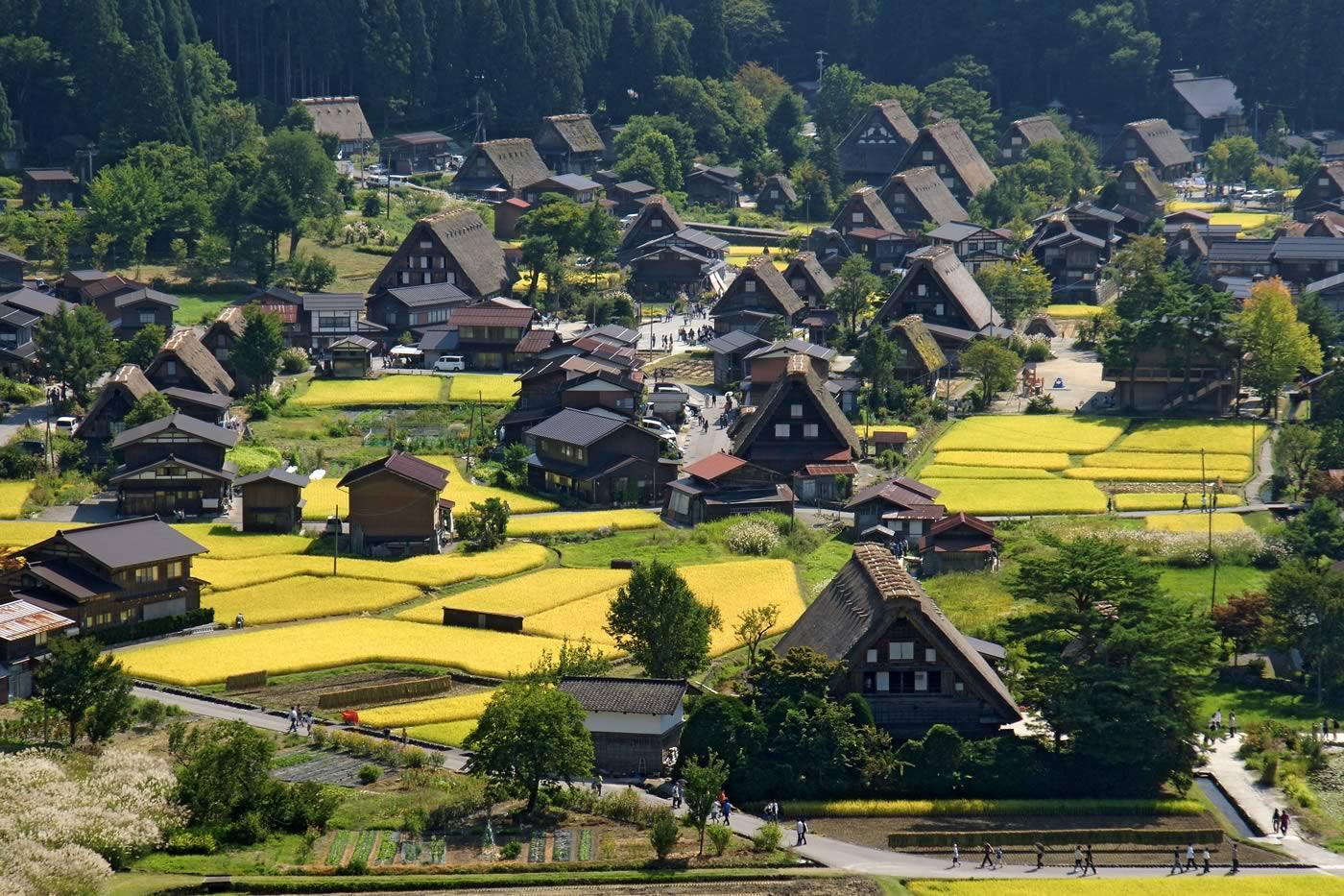 روستای شیراکاواگو ژاپن