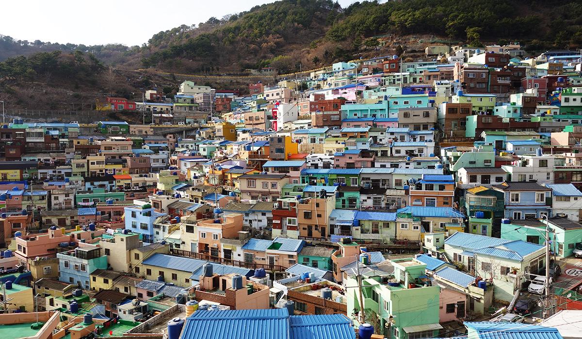 دهکده رنگارنگ گامچون در کره جنوبی