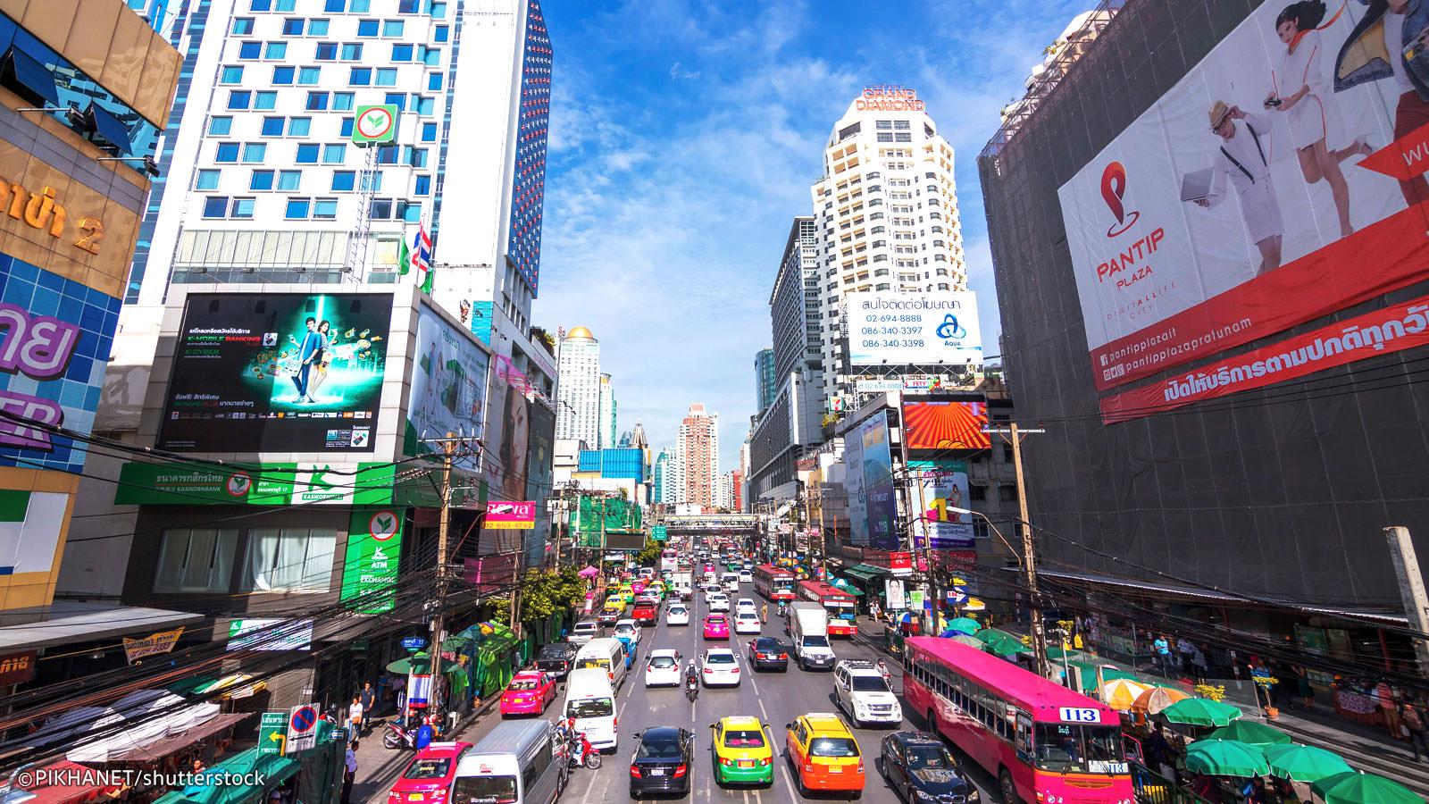 بازار جذاب و ارزان پراتونام بانکوک
