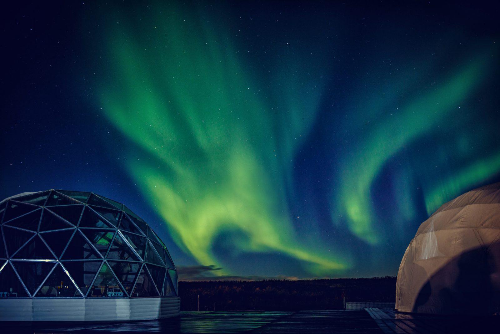 شفق قطبی در روسیه