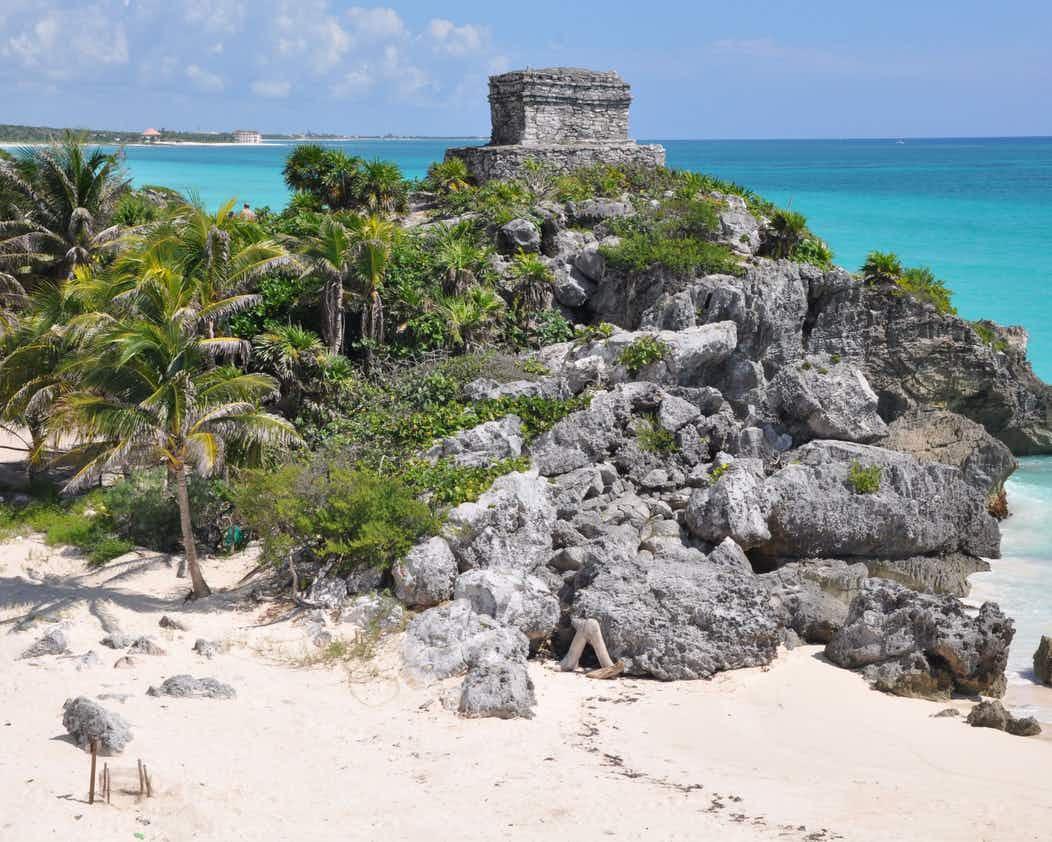 یادگار تمدن مایاها در تولوم مکزیک