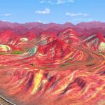 کوههای رنگارنگ شگفت انگیز چین