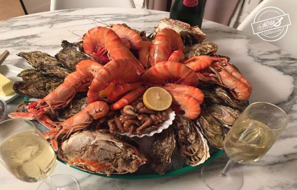 غذا های دریایی در رستوران های پاریس