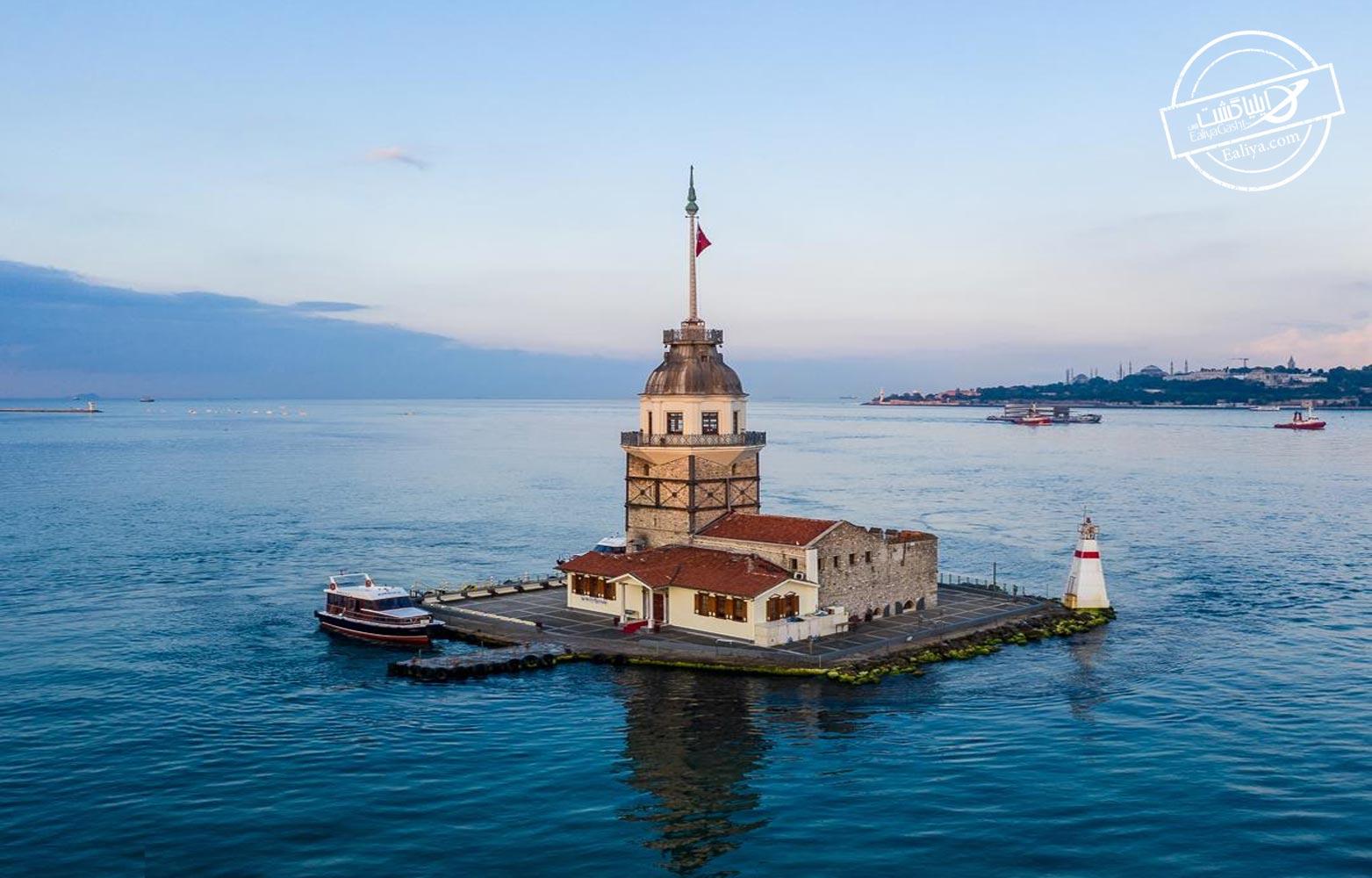 برج دختر جاذبه گردشگری استانبول