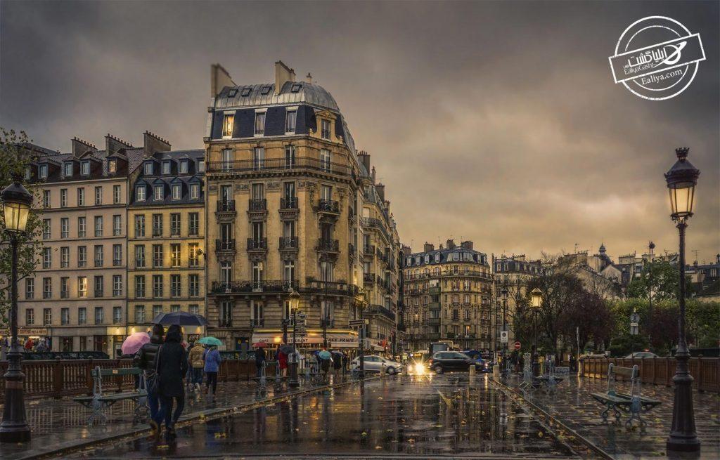 هوای بارانی پاریس