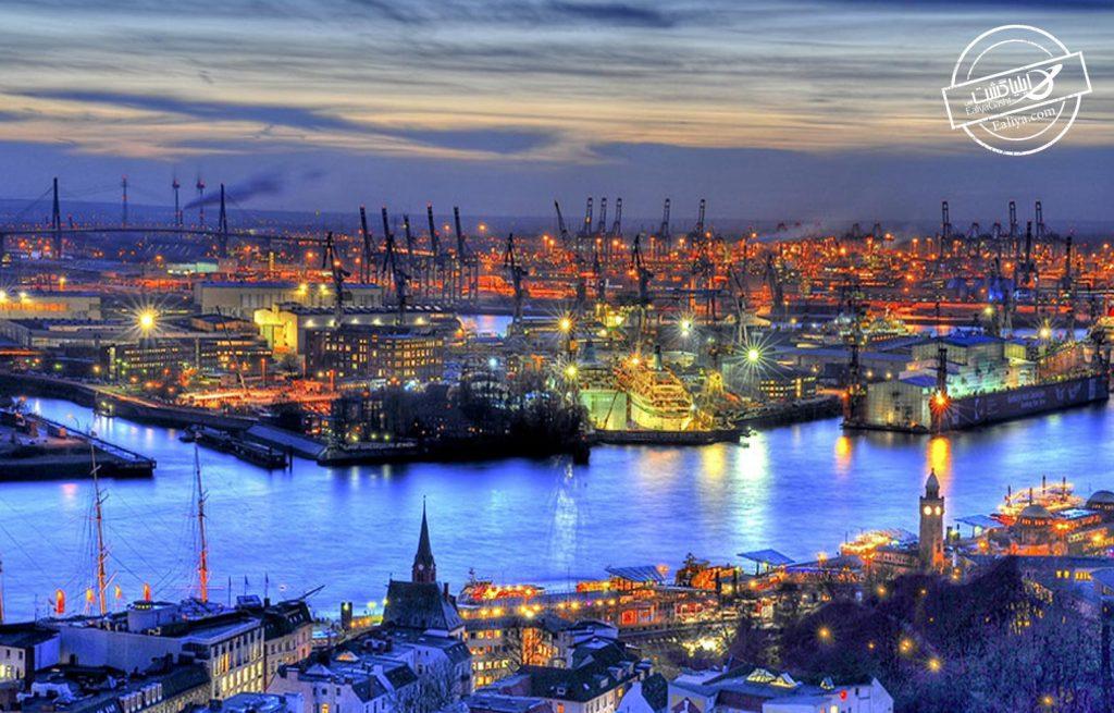 شهر هامبورگ در اروپا