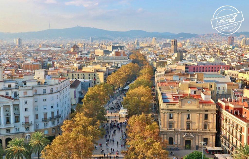 خیابان لا رامبلا در اسپانیا