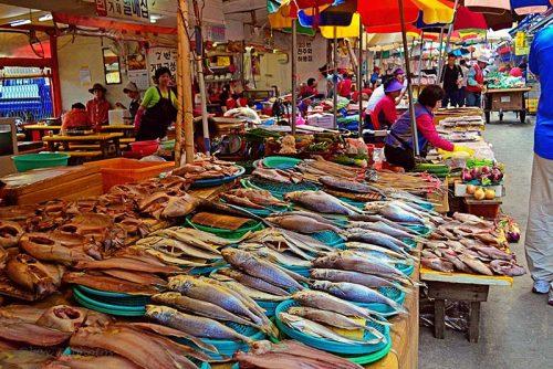 بازار ماهی فروشان سئول